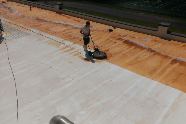 This is why you need commercial roof cleaning. Before & After.