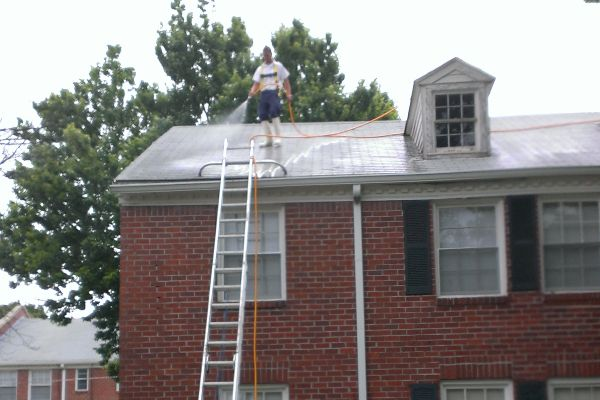 Safety first. Cleaning roofs is what we do.