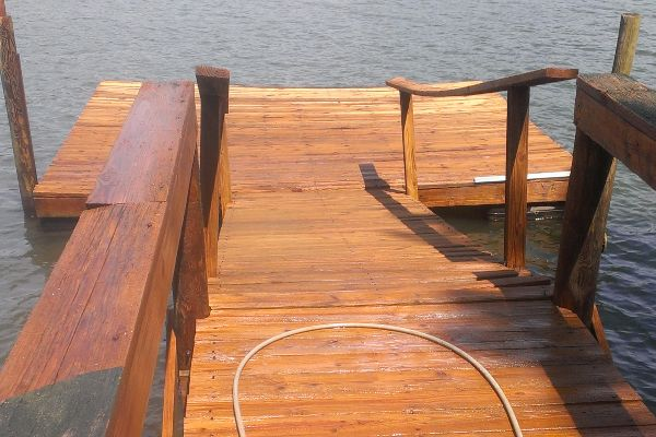 Dock staining protects your surface from water damage.