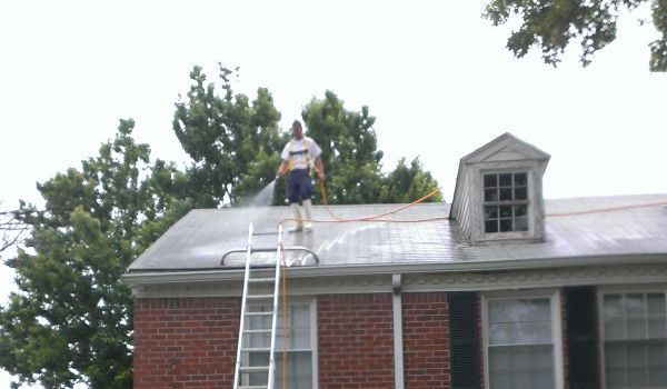 Safety first. Expert roof washing done with Precision.