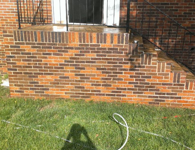From dirty to like-new brick cleaning after pressure washing