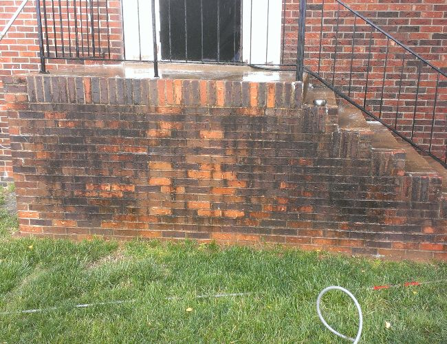The dirtiest brick you've seen before cleaning