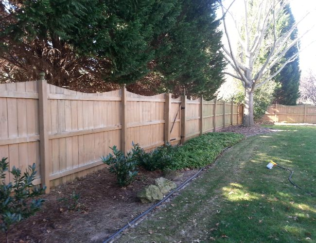 Fence cleaning during a huge job.