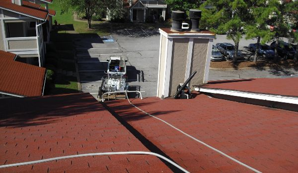 A freshly cleaned roof. Your roof will look like-new again.