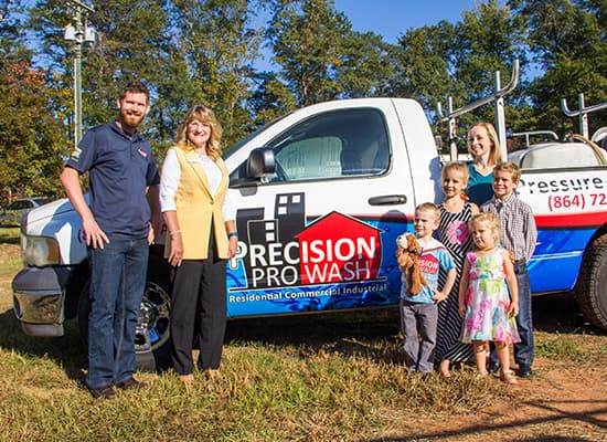 The Precision Pro Wash Family. We Love to Clean.