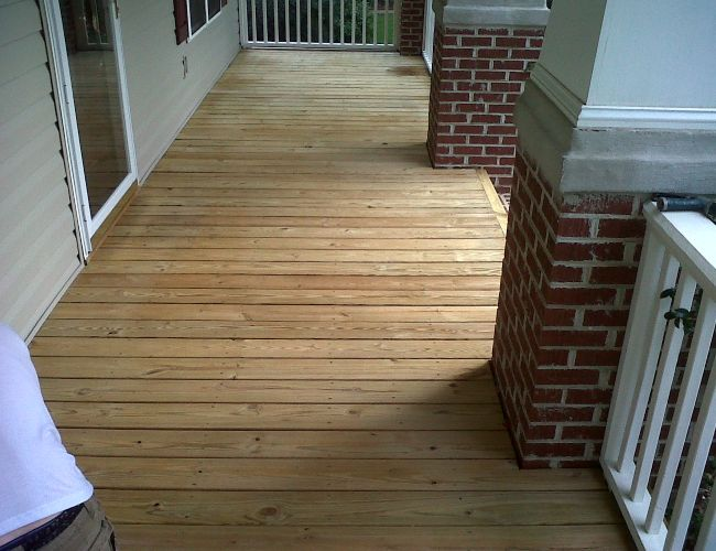 A freshly cleaned deck will make your home shine.