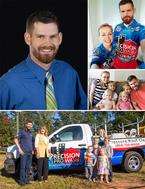 Pat Clark and the Precision Pro Wash Family. Family Owned Since 2006