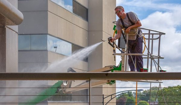 Safety first. Expert commercial pressure washing with Precision.
