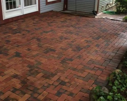 Yes, these are the same paver stones after pressure washing.